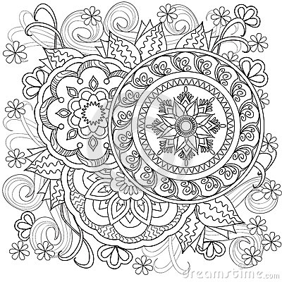 Flowers Mandalas B10 Stock Vector