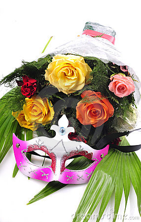 Flowers and mask