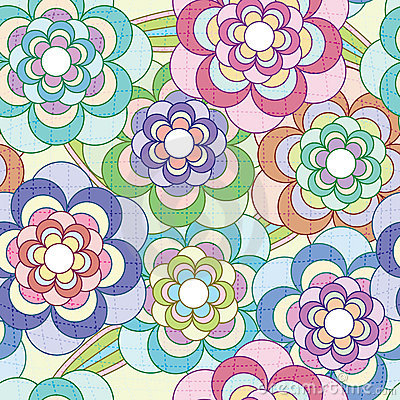 Free Flowers Net Pattern_eps Stock Image - 21677201