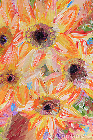 Free Flowers Oil Painting Fragment Stock Images - 68499634