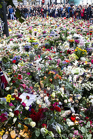 Free Flowers Outside Church In Oslo After Terror Stock Photos - 20466823