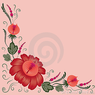 Flowers On A Pink Background Stock Photography - Image: 22020432
