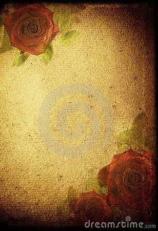 Flowers retro background
