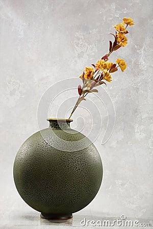 Flowers in round vase