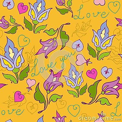 Flowers seamless love