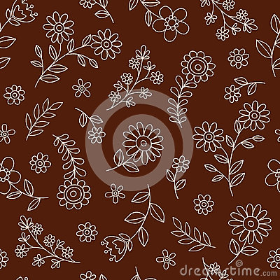 Flowers Seamless Pattern Vector Background