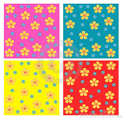Flowers seamless patterns