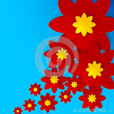 Flowers shadowed background