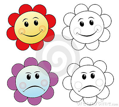 Flowers showing emotions