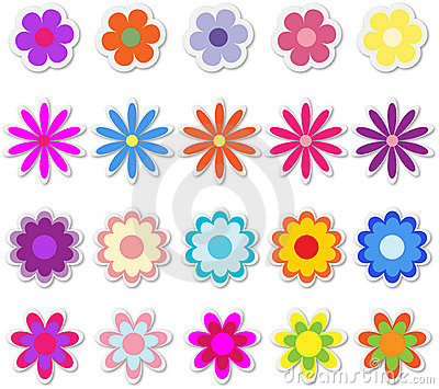 Flowers on Stickers
