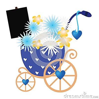 Flowers in stroller