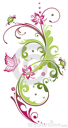 Flowers, summer, pink, green