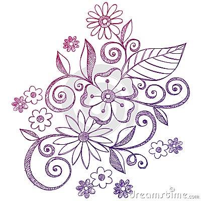 flowers and swirls designs - photo #23