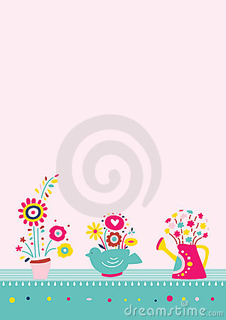 Flowers in Vases Background