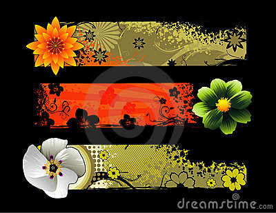 Flowers vector composition