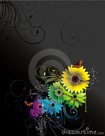 Free Flowers Vector Composition Stock Photography - 7644092