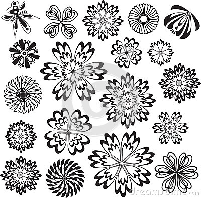 Flowers Vector Design Elements