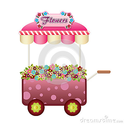 Flowers wagon