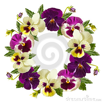 Free Flowers Wreath. Stock Images - 38115404