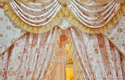 Flowery curtain