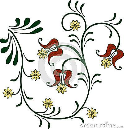 Flowery ornament