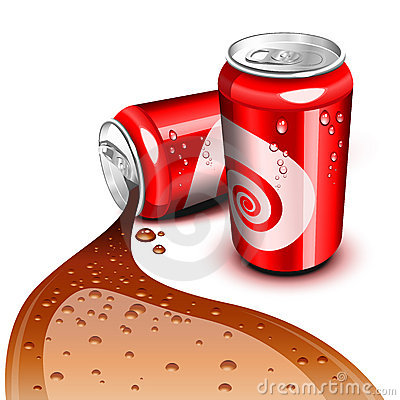 Flowing Cola can