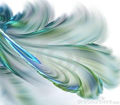 Flowing Feathery Abstract