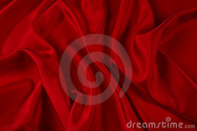 Flowing red satin