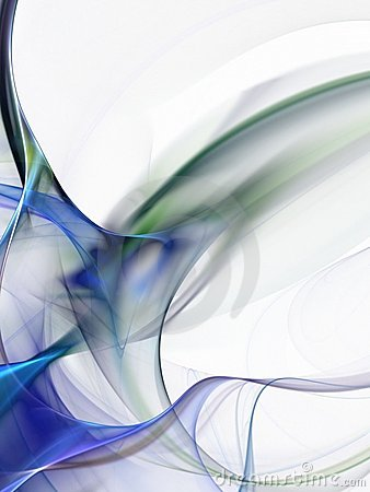 Flowing Smoke Blue Abstract