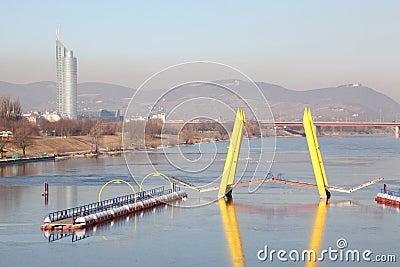 Flowing yellow bridge Editorial Photography