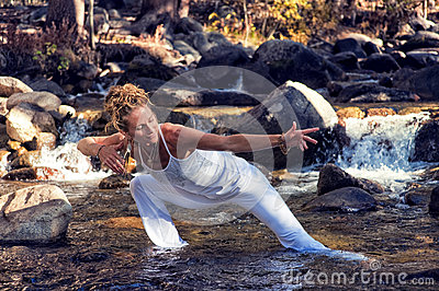 Flowing Yoga Woman