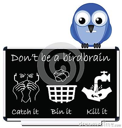 Flu prevention message