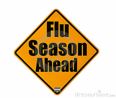 Flu Season warning sign