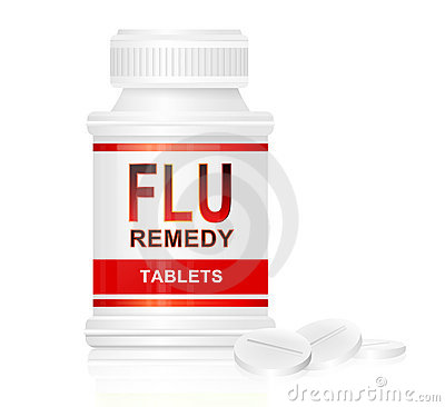 Flu treatment concept.