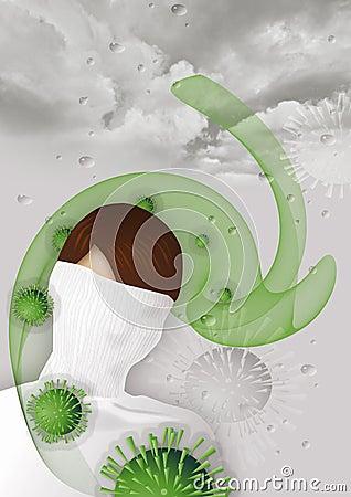 Flu virus attack