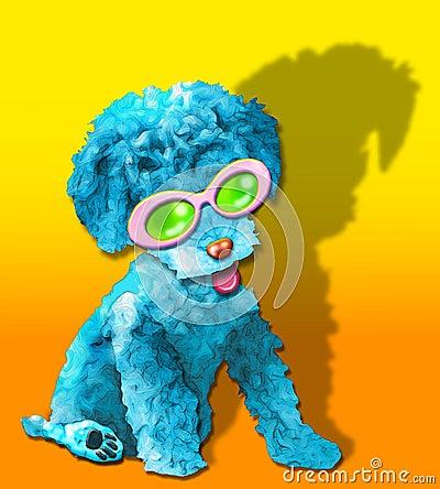 Fluffy blue glamor puppy