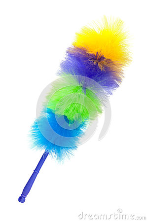Fluffy brush to clean the dust