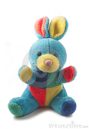 Free Fluffy Colorful Rabbit Toy Stock Photography - 11626132