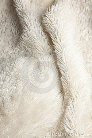 Free Fluffy White Fake Fur Fabric Royalty Free Stock Photo - 13900265