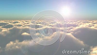 Flug über den Wolken