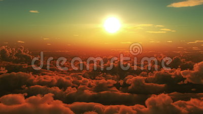 Flug in den Wolken