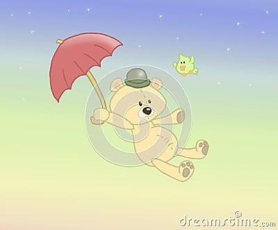 Flugwesen angefüllter Bär