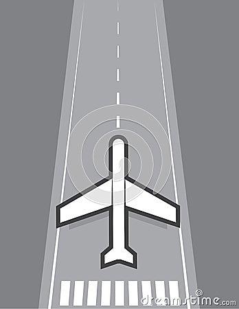 Flugzeug-Landung oder Start