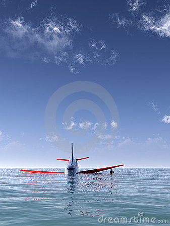 Flugzeugabsturz im Meer