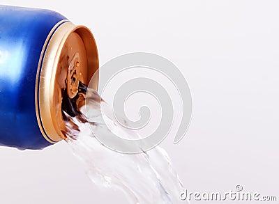 Fluid flows from aluminum cans