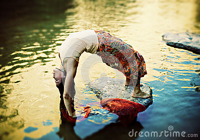 Fluid Yoga Woman