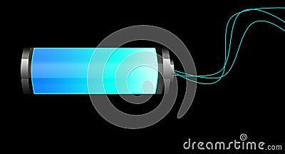 Fluorescent battery