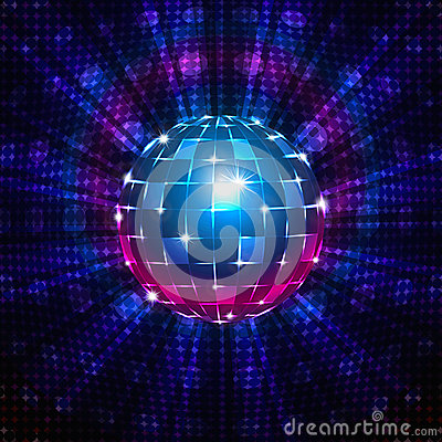 Free Fluorescent Disco Ball Stock Photography - 35431852