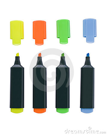 Free Fluorescent Markers Royalty Free Stock Photography - 6107947
