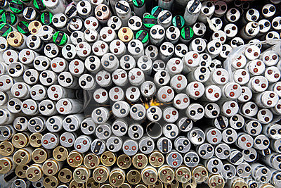 Fluorescent tubes Resource recycling
